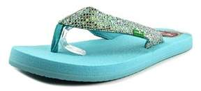 Sanuk Yogo Glitter Open Toe Synthetic Flip Flop Sandal.