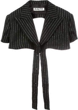 Aalto pinstriped cropped jacket