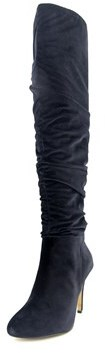INC International Concepts Thalis Wide Calf Women Canvas Over The Knee Boot.