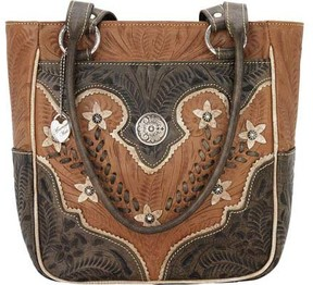 American West Desert Wildflower Zip-Top Tote with 3 Outside Pock (Women's)