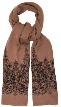 White + Warren Printed Cashmere Scarf