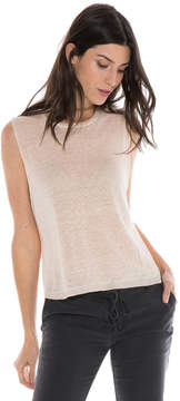 Bella Dahl High Low Tank-Creme De Peche-XS