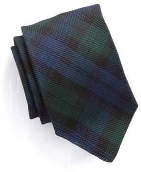 Drakes Drake's Handrolled Woven Grenadine Blackwatch Tie