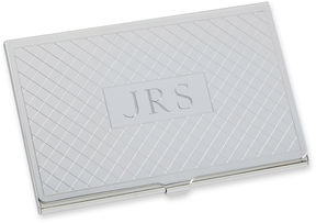Asstd National Brand Personalized Card Case w/ Diagonal Grid Pattern