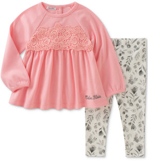 Calvin Klein 2-Pc. Crochet Tunic & Leggings Set, Baby Girls (0-24 months)