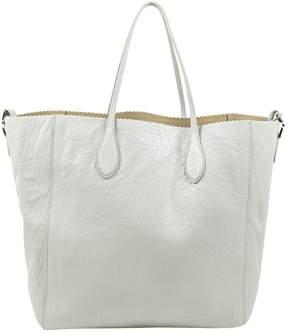 Rochas Grey Leather Handbag
