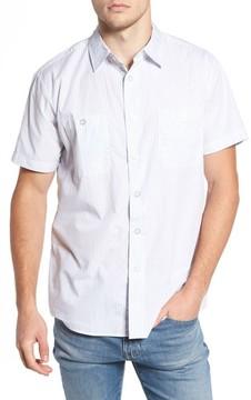 Brixton Men's Reeve Pinstripe Woven Shirt