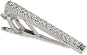 Tateossian Rhodium silver tie clip