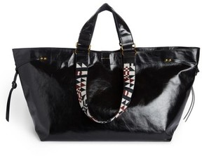 Isabel Marant Small Bagya Leather Tote - Black