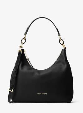 Michael Kors Isabella Large Leather Shoulder Bag - BLACK - STYLE