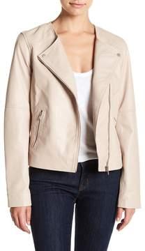 Bagatelle Asymmetrical Zip Leather Jacket