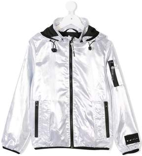 Diadora Junior metallic hooded jacket