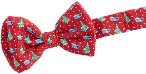 Vineyard Vines Boys Santa Whale & Tree Bow Tie