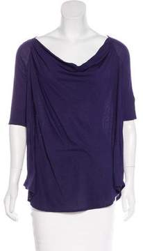 Calypso Cowl Neck Short Sleeve Top w/ Tags