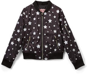 Urban Republic Black Star Sateen Bomber Jacket - Infant, Toddler & Girls