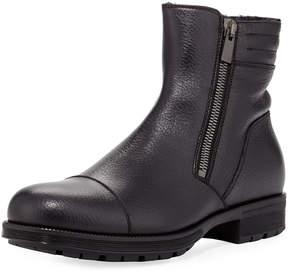Aquatalia Hugh Waxy Dual-Zip Boot,