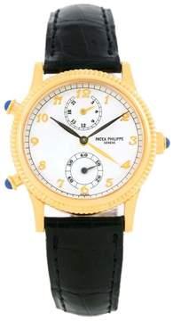 Patek Philippe Calatrava 4864J 18K Yellow Gold & Leather Manual 29mm Womens Watch