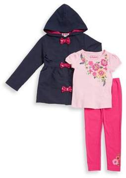 Flapdoodles Little Girl's Three-Piece Tee, Jacket and Pants Set