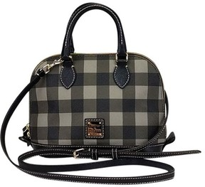 Dooney & Bourke Bowler Gingham Purse - BLACK - STYLE