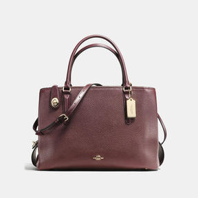 COACH Coach Brooklyn Carryall 34 - LIGHT GOLD/OXBLOOD - STYLE