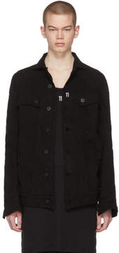 11 By Boris Bidjan Saberi Black Denim Shaped Jacket