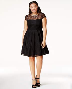 City Chic Trendy Plus Size Lace A-Line Dress