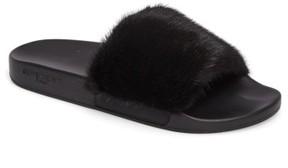 Givenchy Men's Genuine Mink Fur Slide Sandal
