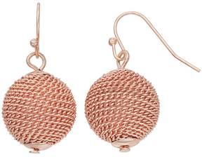 Ball Chain Wrapped Drop Earrings
