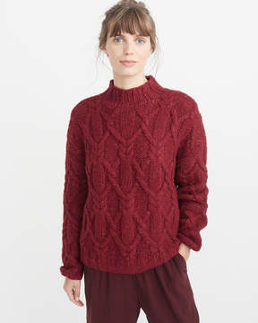 Abercrombie & Fitch Hand-Knit Cable Sweater