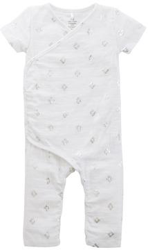 Aden Anais aden + anais Short Sleeve Kimono Bodysuit (Infant)