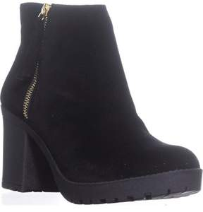 Material Girl Mg35 Mellice Lug Sole Ankle Boots, Black.