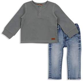 7 For All Mankind Boys' Henley Tee & Skinny Jean Set - Little Kid