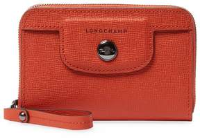 Longchamp Women's Le Pliage H ritage Leather Coin Purse - ORANGE - STYLE
