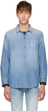 Robert Geller Blue Five Year Fade Denim Shirt