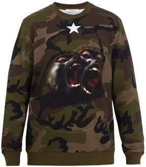 Givenchy Cuban-fit camouflage-print cotton sweatshirt