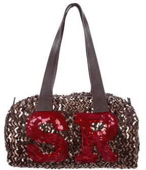 Sonia Rykiel Sequin-Embellished Satin Tote