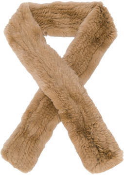 Yves Salomon fur detail scarf