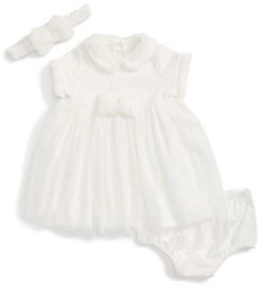 Little Me Infant Girl's Sparkle Mesh Dress & Headband Set