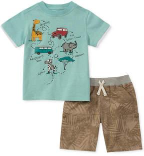 Kids Headquarters 2-Pc. Pocket T-Shirt & Shorts Set, Baby Boys