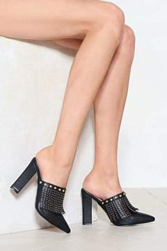 Nasty Gal Put On a Front Fringe Mule