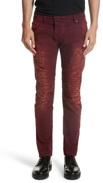 Pierre Balmain Men's Destroyed Jeans