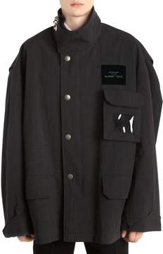 Raf Simons Oversized Cotton Blend Coat