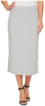 Ellen Tracy Pencil Skirt with Side Slits Women's Skirt