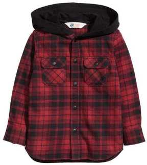 H&M Flannel Shirt with Hood