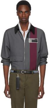 Prada Grey and Red Stripe Jacket