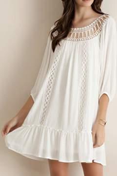 Entro Crochet Ruffled Dress