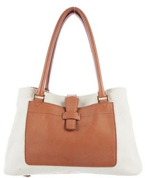 Loro Piana Leather-Trimmed Bellevue Bag