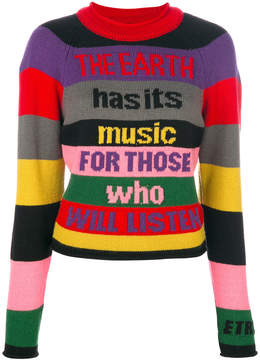 Etro colour-blocked panelled sweater