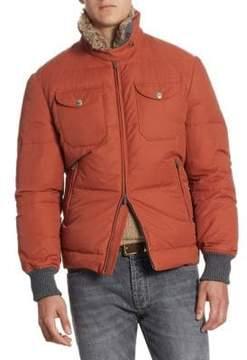 Brunello Cucinelli Fur-Trim Padded Jacket