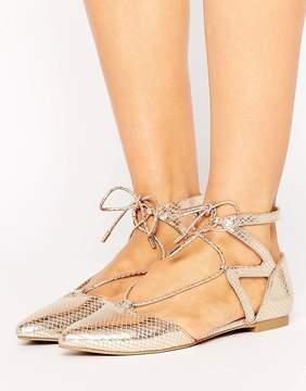 Call it SPRING Ikie Metallic Cutout Flat Shoes